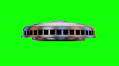 Disc Shaped Flying Saucer Stock Footage
