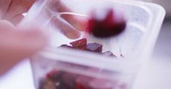 4K Professional chef preparing gourmet starter dish in restaurant kitchen - stock footage