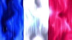 France Flag Animated Background Stock Footage
