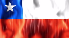 Chile Flag Animated Background Stock Footage