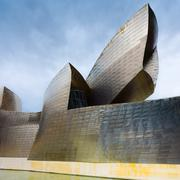 Bilbao, Spain view of modern and contemporary art Guggenheim Museum - stock photo