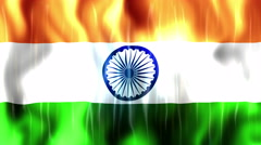 India Flag Animated Background Stock Footage