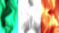 Ireland Flag Animated Background Stock Footage