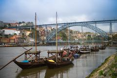 Porto, Portugal old town on the Douro River - stock photo