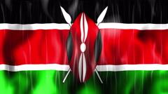 Kenya Flag Animated Background Stock Footage