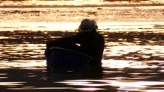 Fishermen catching cockles. Stock Footage