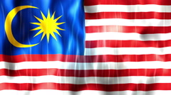 Malaysia Flag Animated Background Stock Footage