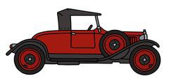Vintage red roadster Stock Illustration