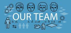 Our Success Team Linear Design Stock Illustration