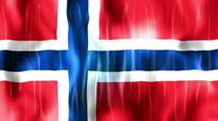 Norway Flag Animated Background Stock Footage