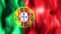 Portugal Flag Animated Background Stock Footage