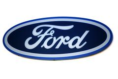 Ford logo. Brand of american car. Stock Photos