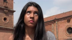 Uncaring Apathetic Teen Girl Stock Footage