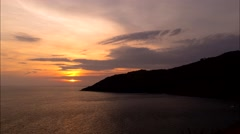 Sunset in Ocean, Time Lapse. - stock footage