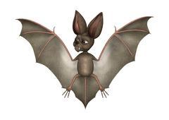 3D Rendering Bat on White - stock illustration