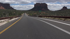 4K Driving Scenic Red Rock Main Road In Sedona Arizona Time Lapse Stock Footage