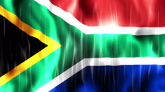 South Africa Flag Animated Background Stock Footage