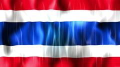 Thailand Flag Animated Background Stock Footage