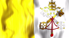 Vatican City State Flag Animated Background Stock Footage
