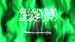 Saudi Arabia Flag Animated Background - stock footage