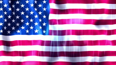 United States of America Flag Animated Background Stock Footage
