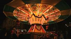 Merry-go-round carousel Arkistovideo
