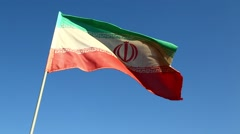 In iran iranian waving flag Stock Footage