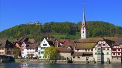 Stein am Rhein, Canton of Schaffhausen, Switzerland Stock Footage