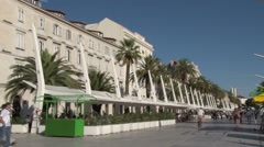 Static shot the modernised waterfront in Split, Stock Footage