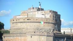Castel Sant'Angelo Rome - Italy - stock footage