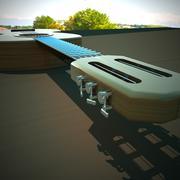 Acoustic guitar 3d - stock illustration