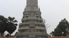 Visiting the Kings Palace - Phnom Penh Cambodia Stock Footage