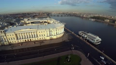 Aerial view. Senate and Synod. The Constitutional Court in St. Petersburg. 4K. - stock footage