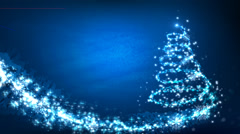 Christmas Tree graphical background - stock footage