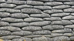 Sandbags in the Dodengang / Boyau de la Mort /  Trench of Death, WWI trench Stock Footage