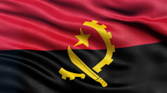 4K Angola flag seamless loop - stock footage