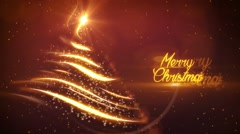 Christmas Tree graphical background Arkistovideo