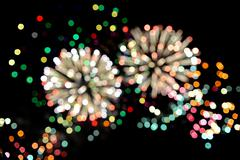 Fireworks light up the sky with dazzling display Stock Photos