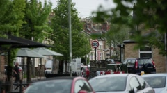 Residential houses in Oxford Stock Footage