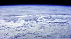 Shot from Space To The Earth Many Clouds - stock footage