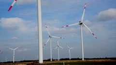 GERMANY - Schleswig-Holstein - April 2016 - Wind turbines - stock footage