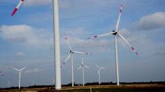 GERMANY - Schleswig-Holstein - April 2016 - Wind turbines Stock Footage