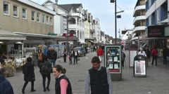 SYLT - GERMANY - April 2016 - The commercial street - time lapse Stock Footage