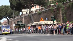 4K People Crossing Street to Colosseum in Rome, Subway, Underground Station Stock Footage