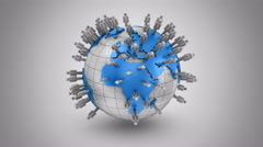 Growth of Social Network Stock Footage