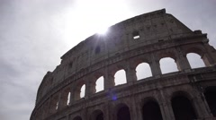 4K Rome, Colosseum in Sunset, Crowd People, Tourists Visiting Italy, Landmark Stock Footage