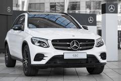 Modern model of prestigious Mercedes-Benz GLC-class SUV crossover - stock photo