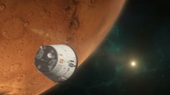 Lander Approaching Mars Stock Footage