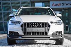 Audi A4 allroad quattro new modern SUV 4WD car model - stock photo