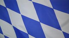 Flag of Bavaria, Germany Stock Footage